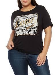 plus size graphic t shirt rainbow