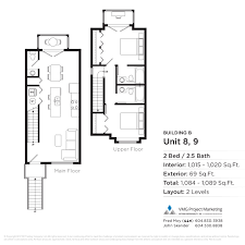 Unit Floor Plans by Floorplans Parkview Townhomes Burnaby