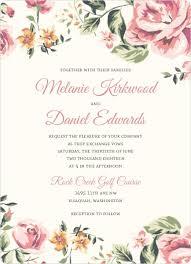 garden wedding invitations floral garden wedding invitation vintage wedding invitations