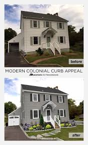 Tips For Curb Appeal - remodelaholic real life rooms modern colonial curb appeal