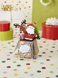 printable christmas pop up card templates santa exploding box card from papercraft inspirations issue 146