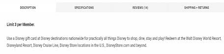 wholesale gift cards bjs wholesale restricting disney gift cards orders points to neverland