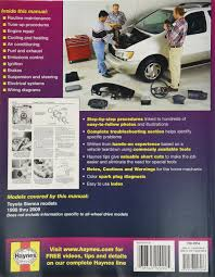 amazon com haynes repair manual for toyota sienna 1998 thru 2009
