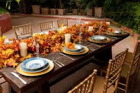 fall wedding table decorations decorate the table