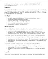 Professional Summary On Resume Examples by Professional Relationship Banker Templates To Showcase Your Talent