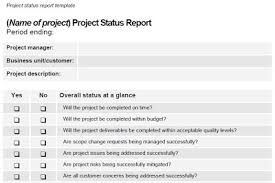 thoughts from a bedraggled mind project status report template