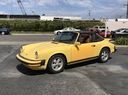 yellow porsche 911 1976 porsche 911s targa talbot yellow lti cars