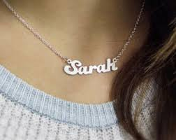 silver name chain necklace images Personalized gold necklace sterling silver name necklace jpg