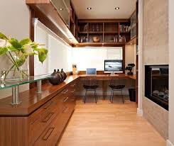espace bureau design interieur aménagement petit espace bureau bois meubles