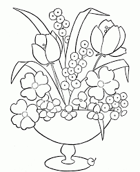 flower vase coloring page flower bouquet rose in vase flower