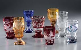 bicchieri boemia lotto composto da otto bicchieri in vetro di boemia asta arredi