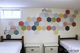 the craft patch kids room decorating hexagon wall treatment