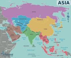 asia map east and south asia map major tourist attractions maps