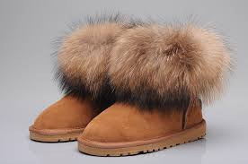 ugg s langley boots 5608 black style ugg 5854 fox fur boots mini brown boots