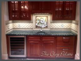 28 hand painted tiles for kitchen backsplash custom hand
