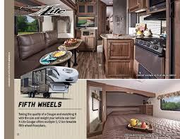 Keystone Cougar Fifth Wheel Floor Plans 2016 Keystone Rv Cougar Xlite Brochure Rv Literature