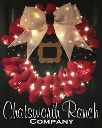 lights add on for any wreath visit http www chatsworthranchco