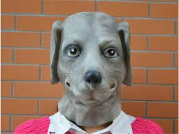 Funny Face Halloween Masks Halloween Mask Masquerade For Fashion Funny Grey Dog Mask