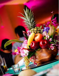 fruit centerpiece mixed tropical fruit centerpieces budget brides guide a