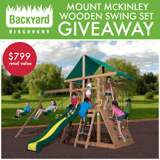 mount mckinley wooden swing set giveaway