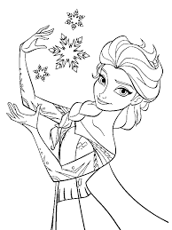frozen disney coloring pages elsa the snow queen making snowflakes coloring page by years old