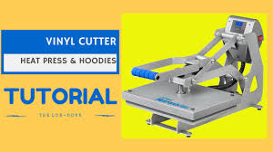 vinyl cutter heat press and t shirts hoodie printing youtube