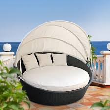 Outdoor Wicker Patio Furniture Round Canopy Bed Daybed - marvelous outdoor daybed with canopy target photo ideas surripui net
