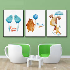 Animal Home Decor by 2017 Decoration Painting Nordic Animal Love Bird Wall Art Painting