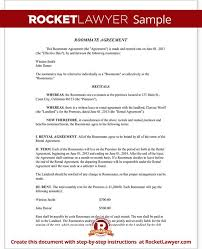 roommate agreement template roommate contract room rental