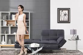 Modern Futon Sofa by Simple Modern Futon Sofa Bed Grey Boca Futon The Futon Shop