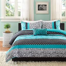 Cheetah Bedding Teal Blue Black Cheetah Animal Print Teen Bedding Twin Xl