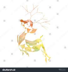 abstract reindeer art watercolor texture on stock illustration