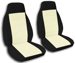 Auto Expressions Bench Seat Covers Two Tone Car Seat Covers Front Semi Custom Black U0026 Red Yellow