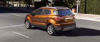 Popular Ford Models 2018 Ford Ecosport Compact Suv Compact Features Big