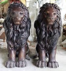 lions statues bronze fountains statues bronze lion statues
