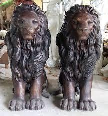 statue lions bronze fountains statues bronze lion statues