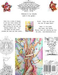 inky garden creative colouring quests u0026 3d paper flower