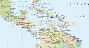 Caribbean Maps by Digital Vector Central America U0026 Caribbean Political Map 10m
