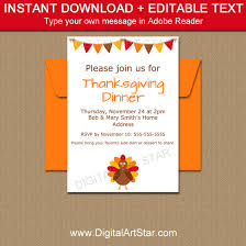 thanksgiving invitations invitation template digital