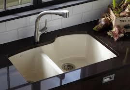 kohler kitchen sinks kohler k 5870 5u 96 wheatland undercounter offset double basin