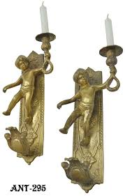 Candle Wall Sconces Vintage Hardware U0026 Lighting French Cherub Candle Wall Sconces