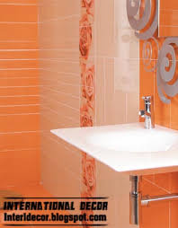 This Is Latest Orange Wall Tile Designs Ideas For Modern Bathroom - Bathroom wall tile designs pictures