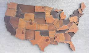 United States Map Wall Art by Contiguous Usa Map Wall Art Wooden State Art United States Map