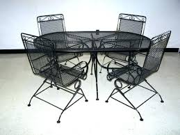 wrought iron patio table and chairs wrought iron garden table and chairs items similar to vintage yellow