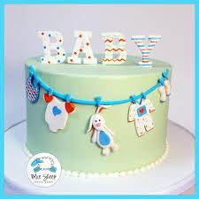 clothesline baby shower cake blue sheep bake shop