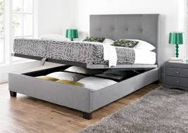 Fabric Bedroom Furniture by Black Color Convertible Ottoman Folding Bed Sleeper With Mattress
