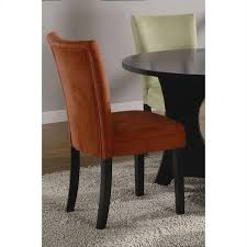 Parsons Dining Chair Coaster Bloomfield Microfiber Parsons Dining Chair In Terracotta