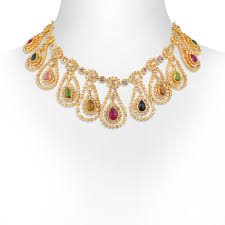 necklace trendy images Gold necklace trendy multi coloured choker necklace set jpg