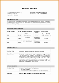 simple resume format in word file download indian resume format curriculum vitae for fresher engineer