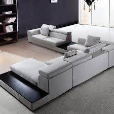 Microfiber Sofa With Chaise Lounge by Forte Grey Microfiber Sofa Furniture Stores San Jose Ca